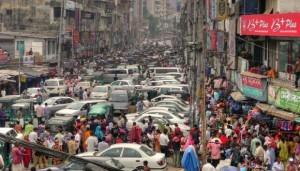 Ruuhka-aika saa uuden merkityksen Dhakassa (Kuva: joiseyshowaa CC BY-SA 2.0)