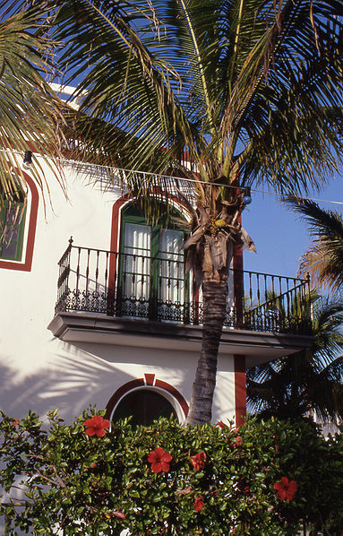 Espanjalaistyylinen parveke Gran Canarialla