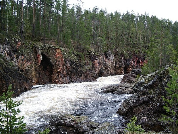 Kiutakönkään koski Oulankajoella, Oulangan kansallispuistossa. (kuva: Jochen.wurster CC-SA)