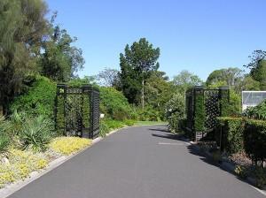 Royal Botanic Gardenin sisäänkäynti