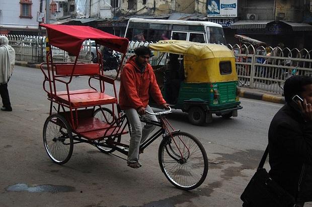 Riksat puikkelehtivat Vanhassa Delhissä. (kuva: Sfu CC-SA)