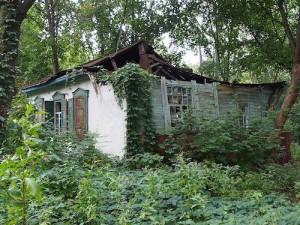 Hylätty kylä Tsernobylissä (kuva: Clay Gilliland CC-BY-SA)